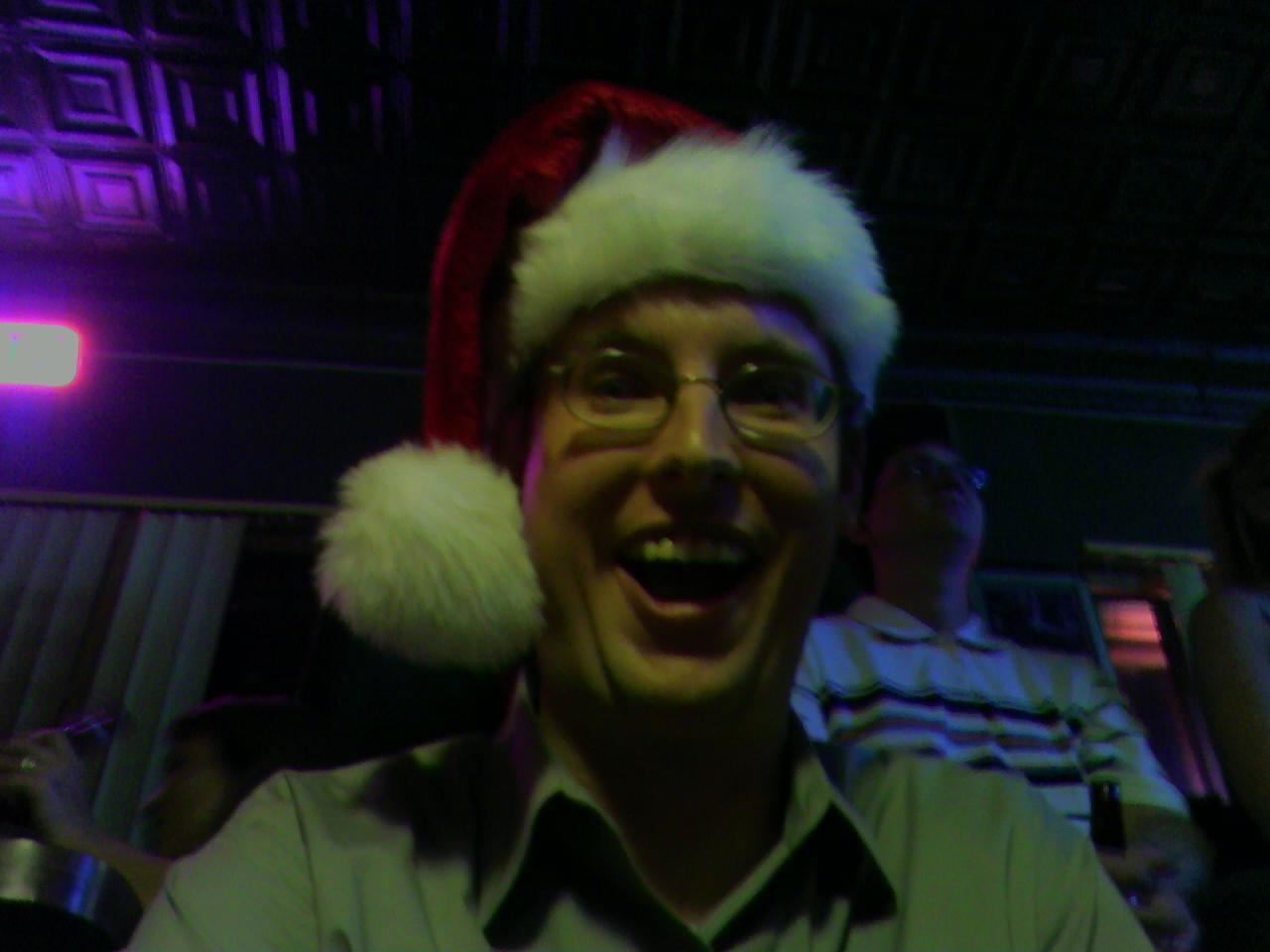 Billy in a Santa Hat!